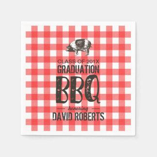 Serviettes Jetables Rôti rouge de porc de guingan de partie de BBQ