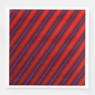 Serviettes Jetables Rouge, pourpre et noir Laser-Comme la ligne motif
