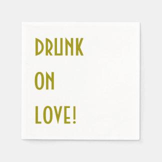 Serviettes Jetables Serviette de cocktail de mariage : Bu sur l'amour