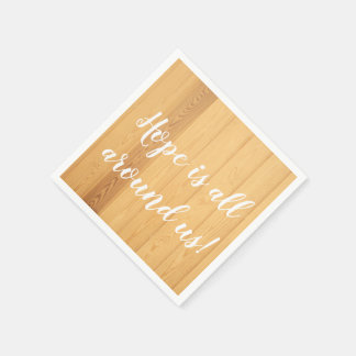 Serviettes Jetables Serviette de dîner de papier en bois fidèle