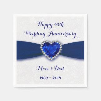 Serviettes Jetables Serviette de papier d'anniversaire de mariage de