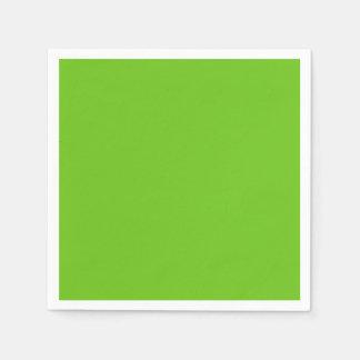 Serviettes Jetables Serviette de papier de cocktail standard vert