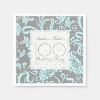 Serviettes Jetables Serviette de papier florale de fête d'anniversaire