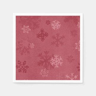 Serviettes Jetables Serviette de papier modelée par flocon de neige