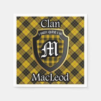 Serviettes Jetables Serviette écossaise de tartan de MacLeod de clan