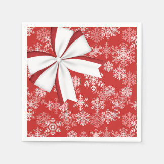 Serviettes Jetables Serviette-Flocons de neige de papier de Noël