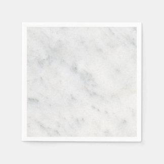 Serviettes Jetables serviette moderne en pierre blanche de marbre de
