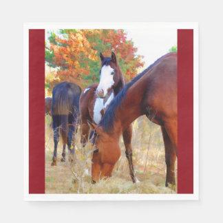 Serviettes Jetables Serviette standard de déjeuner de cheval