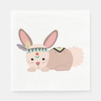 Serviettes Jetables Serviette tribale de lapin