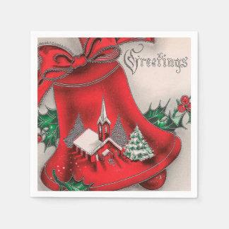 Serviettes Jetables Serviette vintage de partie de cloche d'église de
