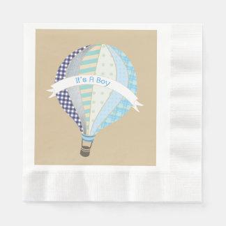 Serviettes Jetables Serviettes chaudes bleues de baby shower de garçon