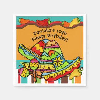 Serviettes Jetables Serviettes de papier customisées d'anniversaire de