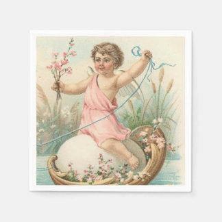 Serviettes Jetables Serviettes de papier d'ange vintage de Pâques