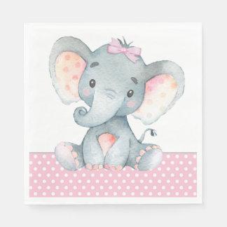 Serviettes Jetables Serviettes de papier de baby shower d'éléphant de