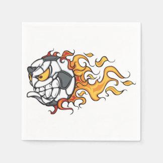 Serviettes Jetables Serviettes de papier de ballon de football