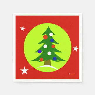 Serviettes Jetables Serviettes de papier de fête de Noël patriote