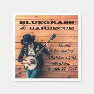 Serviettes Jetables Serviettes de papier de partie de Bluegrass et de