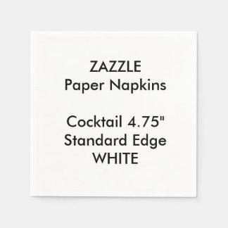 Serviettes Jetables Serviettes de papier de petit cocktail BLANC fait