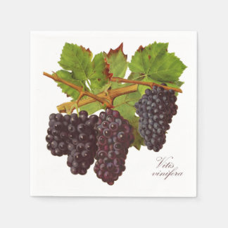 Serviettes Jetables Serviettes de papier de raisins pourpres
