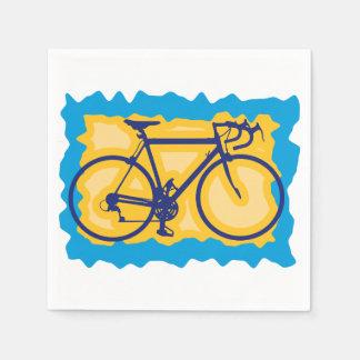 Serviettes Jetables Serviettes de papier de symbole de vélo