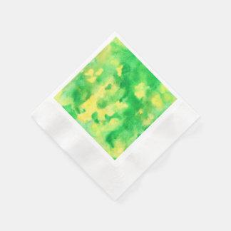 Serviettes Jetables Serviettes de papier inventées de cocktail de vert