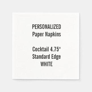 Serviettes Jetables Serviettes de papier personnalisées de cocktail