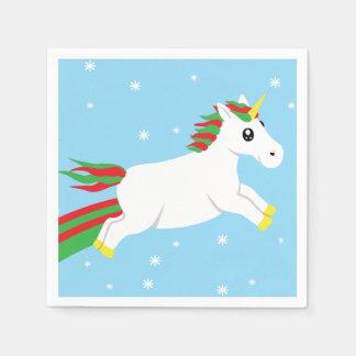 Serviettes Jetables Serviettes de vacances de licorne de Noël