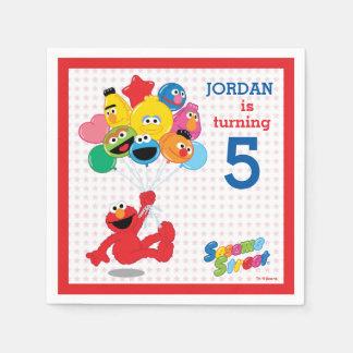 Serviettes Jetables Sesame Street | Elmo et copains - ballons