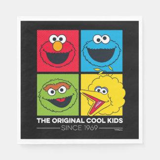 Serviettes Jetables Sesame Street | les enfants frais originaux