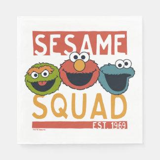 Serviettes Jetables Sesame Street - peloton de sésame