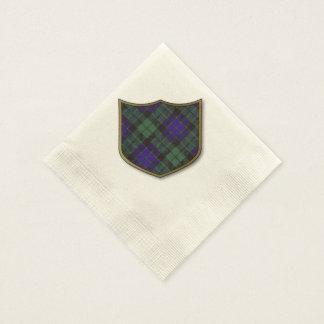 Serviettes Jetables Tartan d'écossais de plaid de clan de Mackay
