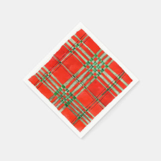 Serviettes Jetables Tartan rouge de Scott