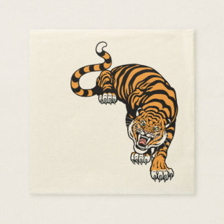 Serviettes Jetables tigre