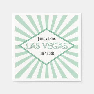 Serviettes Jetables Vert de chapiteau de Las Vegas épousant les