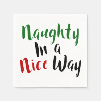 Serviettes Jetables Vilain dans Noël effronté Nice de manière