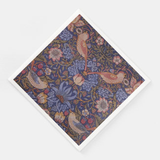 Serviettes Jetables Voleur vintage de fraise de William Morris