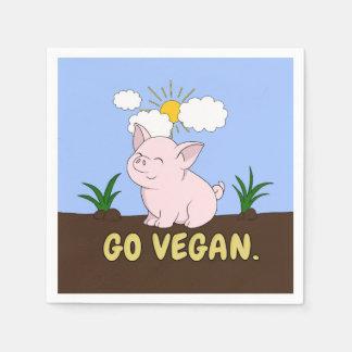 Serviettes Jetables Vont le végétalien - porc mignon