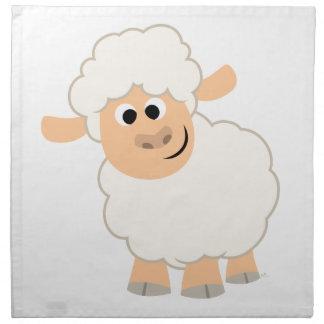 Serviettes mignonnes de moutons de bande dessinée