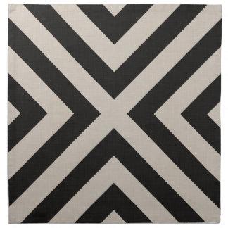 Serviettes noires de tissu de toile de la ferme X