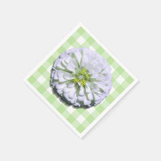 Serviettes - papier - Zinnia blanc Lemony sur le Serviettes En Papier