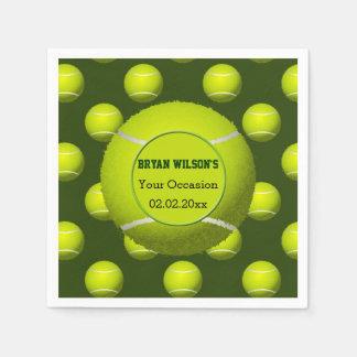 Serviettes personnalisées par thème de tennis de serviette en papier