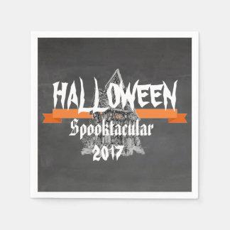 Serviettes rustiques de Halloween Spooktacular de Serviettes En Papier