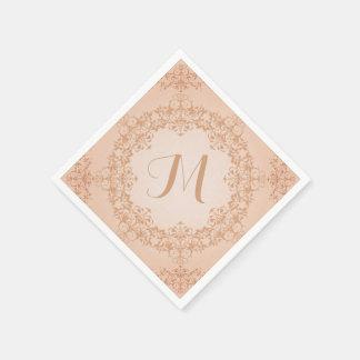 Serviettes vintages de monogramme de regard serviettes jetables