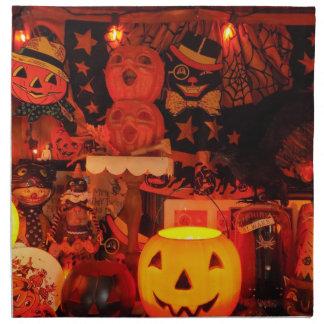 Serviettes vintages d'un tissu de Halloween