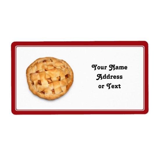 Servir une tarte aux pommes étiquette d'expédition