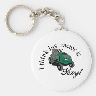 Ses tracteurs sexy porte-clé rond