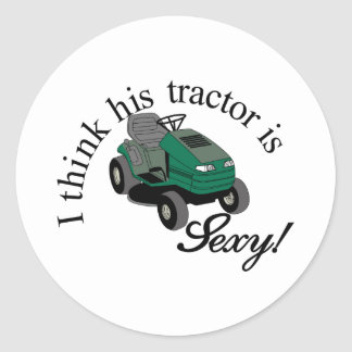 Ses tracteurs sexy sticker rond