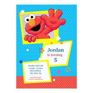 Sesame Street | Elmo - anniversaire de point et Carton D'invitation 11,43 Cm X 15,87 Cm