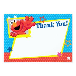 Sesame Street | Elmo - point de polka et Merci Carton D'invitation 8,89 Cm X 12,70 Cm