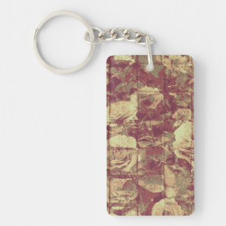 S'est levé le motif de camouflage sur l'arrière - porte-clé rectangulaire en acrylique double face